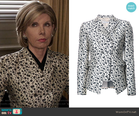 Altuzarra Floral Print Blazer worn by Diane Lockhart (Christine Baranski) on The Good Fight