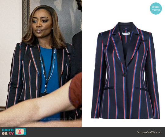 Altuzarra Striped Blazer worn by Patina Miller on Madam Secretary
