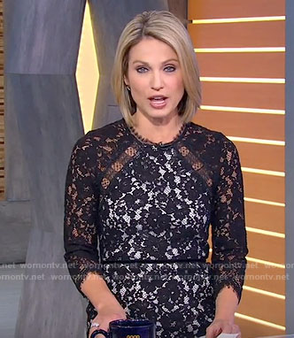 Amy's black lace dress on Good Morning America