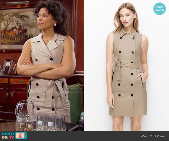 Ann Taylor Trench Dress worn by Karla Mosley on The Bold & the Beautiful