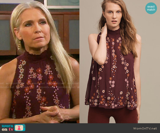 Anthropologie Daisy Chain Blouse worn by Melissa Reeves on Days of our Lives
