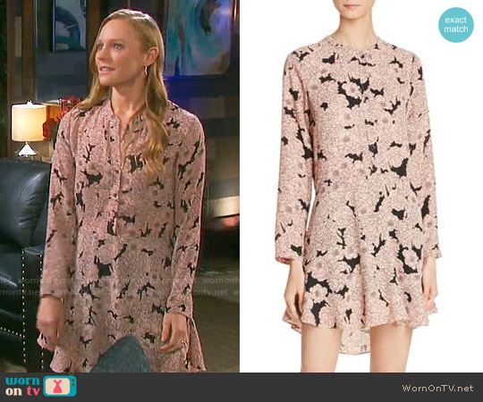 Aqua Marigold Flounce Bottom Dress worn by Abigail Deveraux (Kate Mansi) on Days of our Lives