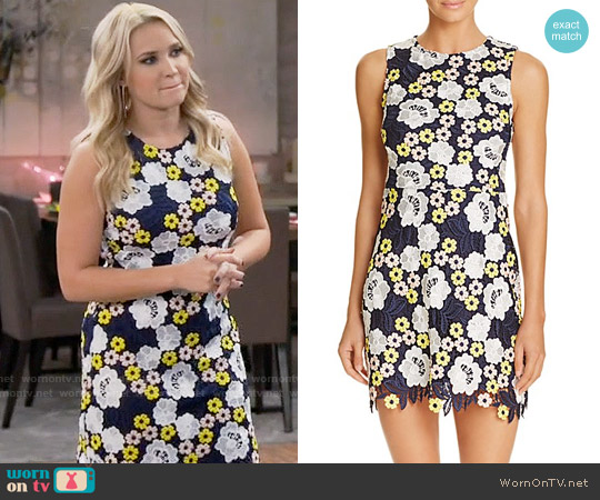 Aqua Multi-Color Lace Dress worn by Emily Osment on Young & Hungry