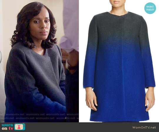 Armani Collezioni Ombre Coat worn by Kerry Washington on Scandal