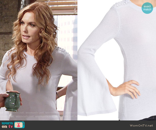Autumn Cashmere Slash Sleeve Cashmere Sweater worn by Tracey Bregman on The Young & the Restless