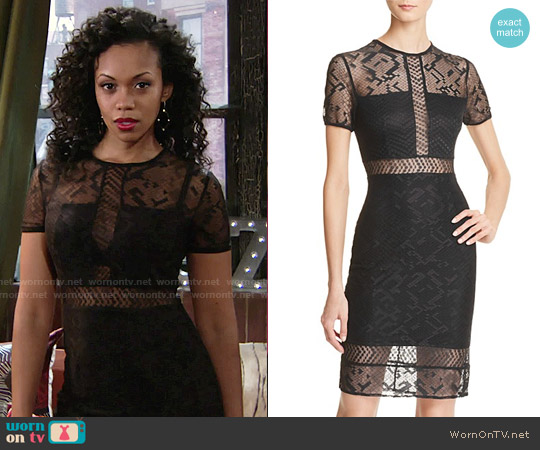 Bailey 44 Want To Be Lace Dress worn by Mishael Morgan on The Young & the Restless