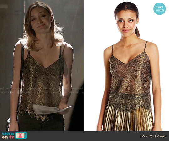 Bcbgmaxazria Mady Top worn by Christine Evangelista on The Arrangement