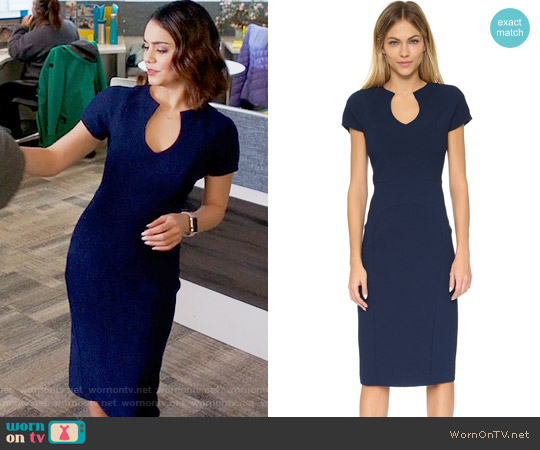 Black Halo Gypsy Rose Sheath Dress worn by Vanessa Hudgens on Powerless