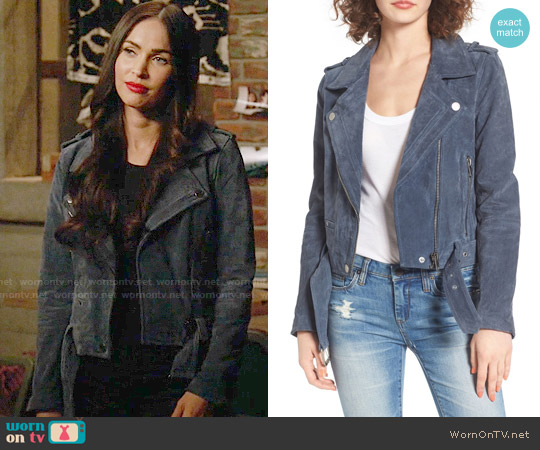 BlankNYC Morning Suede Moto Jacket worn by Megan Fox on New Girl