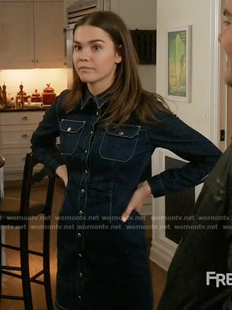 Callie's denim shirtdress on The Fosters
