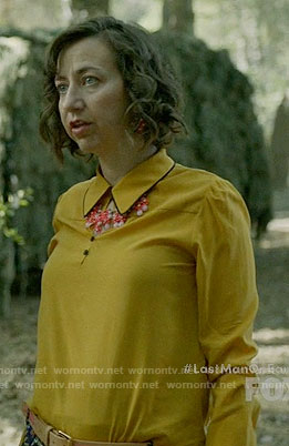 Carol's yellow collared blouse on Last Man on Earth