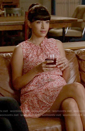 Cece's red floral dress on New Girl