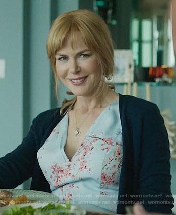Celeste's blue cherry blossom print dress on Big Little Lies