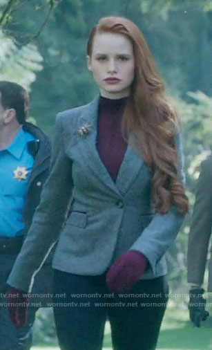 Cheryl's herringbone blazer on Riverdale