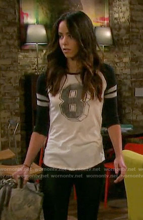 Ciara's 8 varsity tee on Days of our Lives