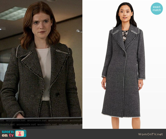 Club Monaco Jelise Coat worn by Rose Leslie on The Good Fight