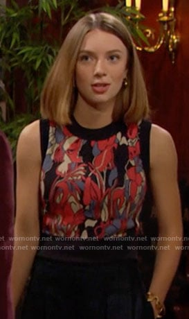 Coco's printed crop top on The Bold and the Beautiful