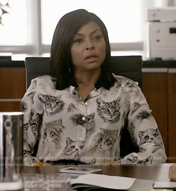 Cookie's cat print blouse on Empire
