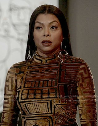 Cookie's gold velvet midi dress on Empire