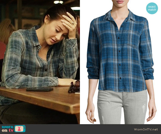 Current/Elliott The Workwear Slim Boy Shirt worn by Shailene Woodley on Big Little Lies