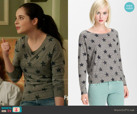 Current Elliott The Letterman Sweater worn by Vanessa Marano on Switched at Birth