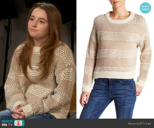 Current Elliott Mixed Stitch Sweater worn by Kaitlyn Dever on Last Man Standing
