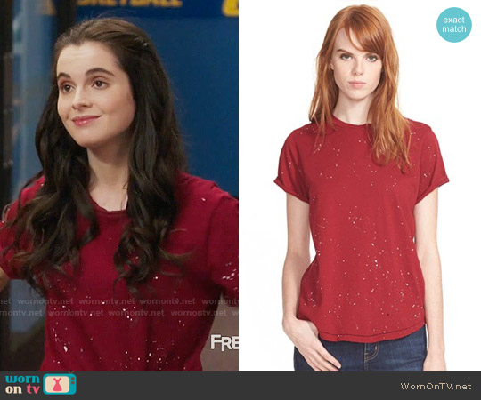 Current Elliott The Roll Sleeve Tee worn by Bay Kennish (Vanessa Marano) on Switched at Birth
