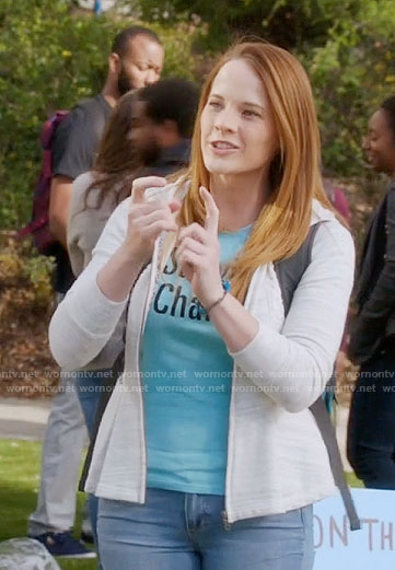 Daphne's peplum hoodie on Switched at Birth