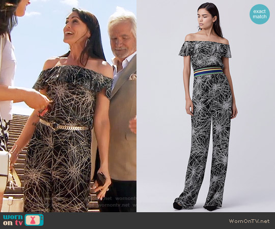 Diane von Furstenberg Adele Jumpsuit worn by Rena Sofer on The Bold & the Beautiful