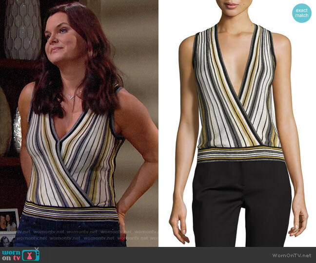 Diane von Furstenberg Velda Top worn by Katie Logan (Heather Tom) on The Bold & the Beautiful