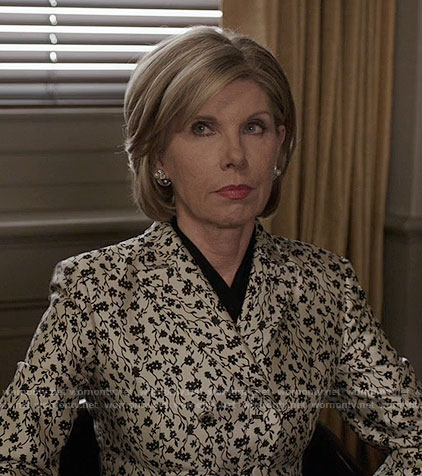 Diane's white floral blazer on The Good Fight