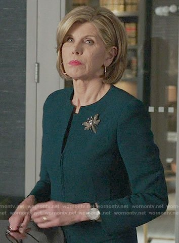 Diane's teal jacket on The Good Fight