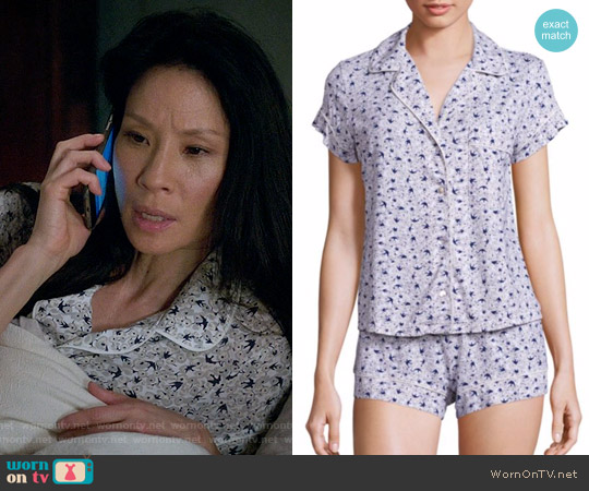 Eberjey Nightingale Short Pajamas worn by Joan Watson (Lucy Liu) on Elementary