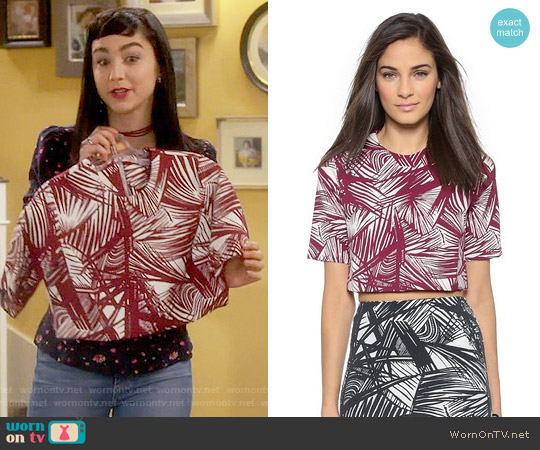 Elizabeth and James Lowell Top worn by  Molly Ephraim on Last Man Standing