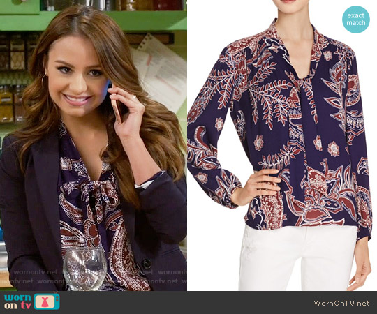 Ella Moss Riya Blouse worn by Aimee Carrero on Young & Hungry