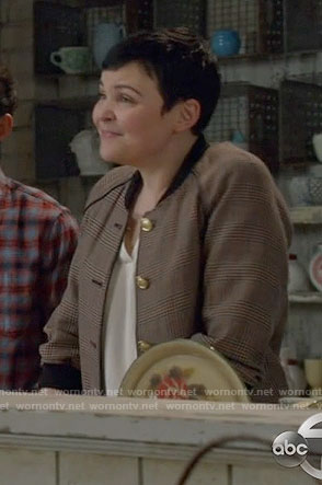 Mary's plaid bomber jacket on Once Upon a Time