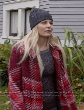 Emma's red plaid coat on Once Upon a Time
