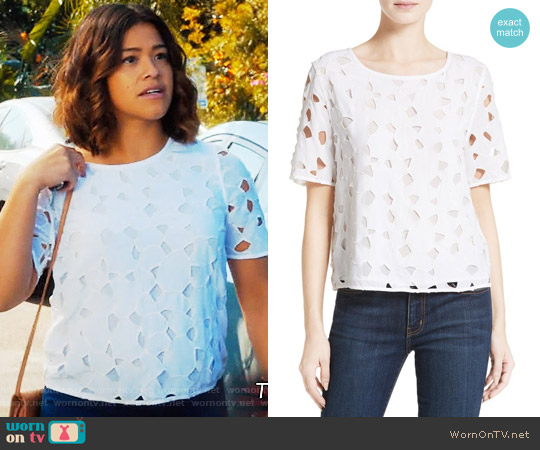 Equipment Brynn Top worn by Gina Rodriguez on Jane the Virgin