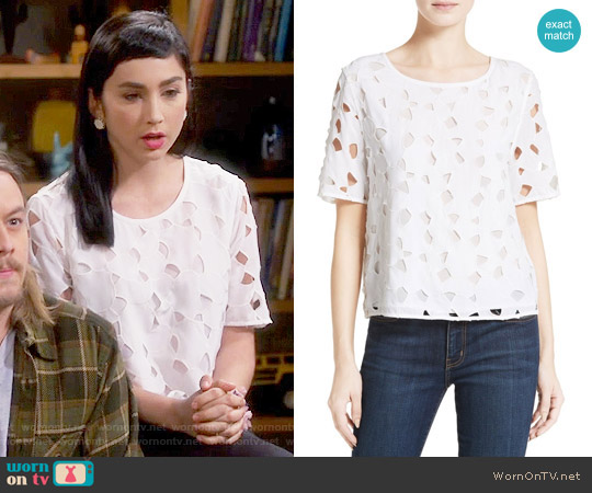 Equipment Brynn Top worn by  Molly Ephraim on Last Man Standing