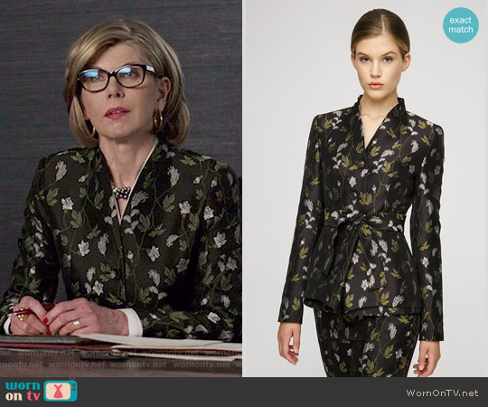 Escada Jacket Blowey worn by Christine Baranski on The Good Fight