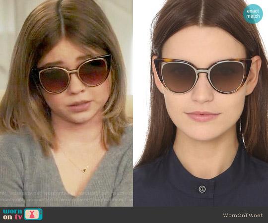 Fendi Floating Cat Eye Sunglasses, 51mm worn by Haley Dunphy (Sarah Hyland) on Modern Family