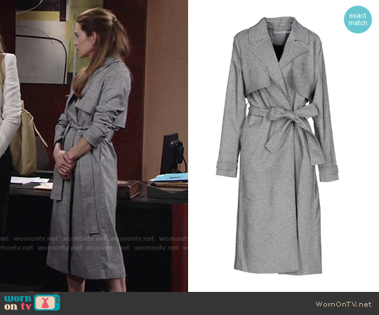 Finders Keepers Get Up Trench Jacket worn by Amelia Heinle on The Young & the Restless