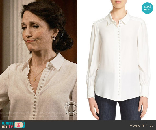 Frame Victorian Blouse worn by Nadine Tolliver (Bebe Neuwirth) on Madam Secretary