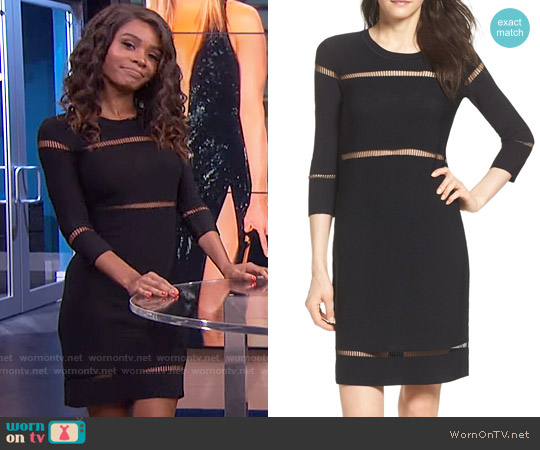 French Connection Danni Ladder Knit Dress worn by Zuri Hall on E! News