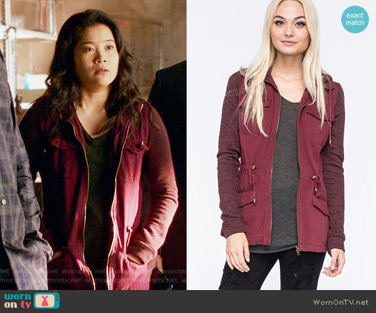 Full Tilt Marled Anorak Jacket worn by Happy Quinn (Jadyn Wong) on Scorpion