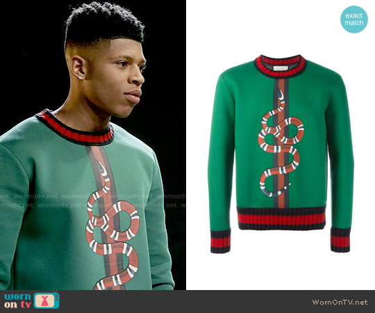 Gucci Snake Print Sweater worn by Hakeem Lyon (Bryshere Y. Gray) on Empire