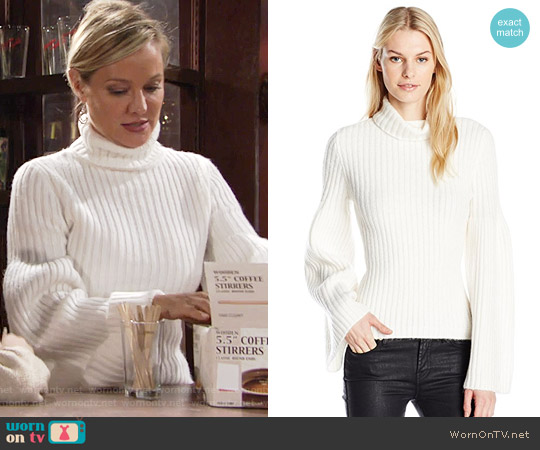 Guess Samira Voluminous Sweater worn by Sharon Case on The Young & the Restless