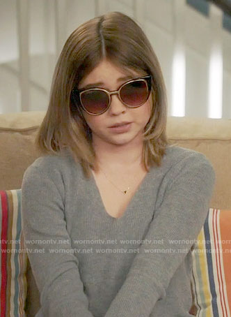 Haley's new sunglasses on Modern Family