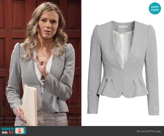 H&M Fitted Jacket worn by Abby Newman on The Young & the Restless