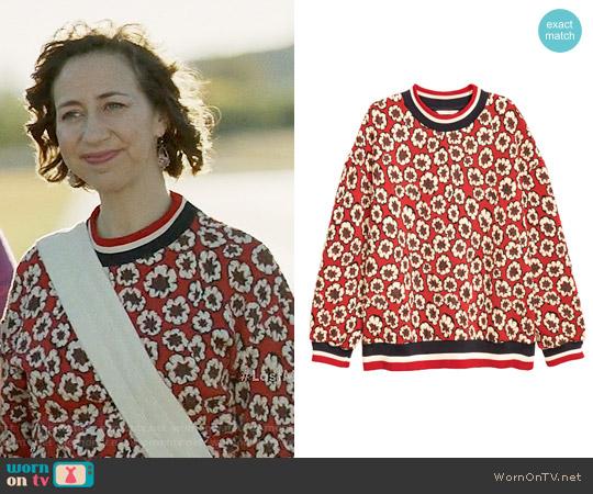 H&M Jacquard Patterned Sweatshirt worn by Kristen Schaal on Last Man On Earth